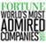 Fortune, World's Most Admired Companies 2011